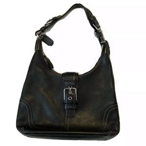 Coach Black Leather Hobo Bag - Style 7463 Bag